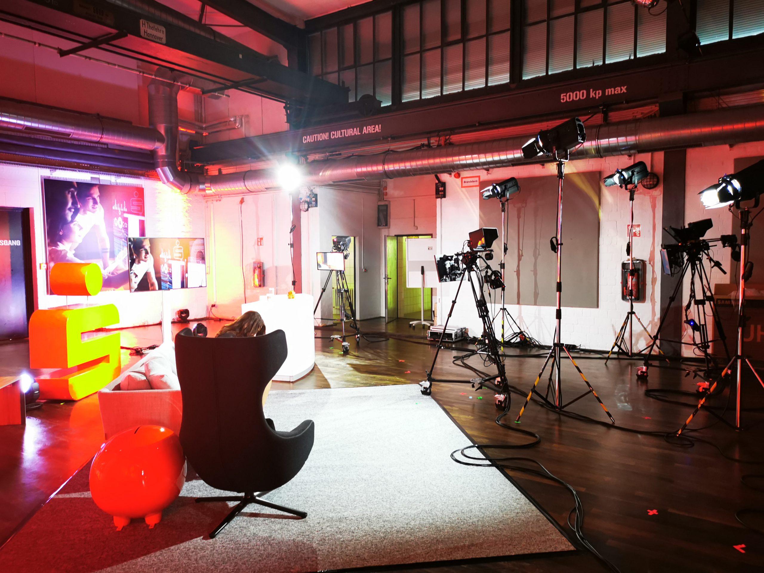 TMP Sparkasse Celle Gifhorn Wolfsburg Filmstudio hybrid event